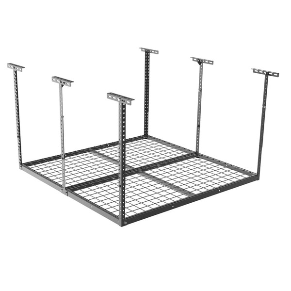Fleximounts Black 48-inch Long x 48-inch Wide x 40-inch High Heavy-duty Overhead Adjustable Garage Ceiling Storage Rack
